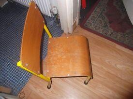 childrends bent wood chairs ex pre school