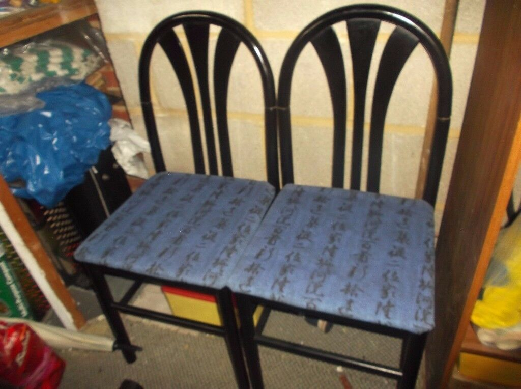2 dining room chairs - black - free to collect