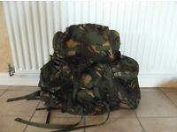 Genuine British Army Combat Rucksack Bergen 110L DPM Camo with Side Pockets A1 condition