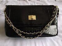 Black NEW Gold Chain Bag