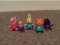 Set of five Peppa Pig figures for sale