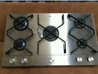 Brand New Stainless Steel Amica 5 Burners Gas Hobs. Width 90cm