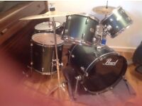 Pearl Drum Kit for Sale with Crash/Ride Symbol