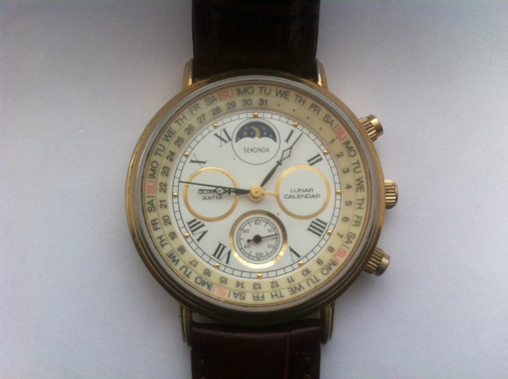 Rare Vintage Collectible SEKONDA LUNAR CALENDAR MOON PHASE ...