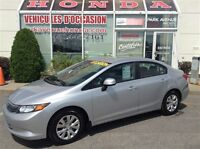2012 Honda Civic LX * CERTIFIÉ * A/C * Cruise * Bluetooth