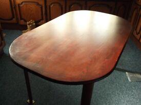 Dark Wood Dining Table.