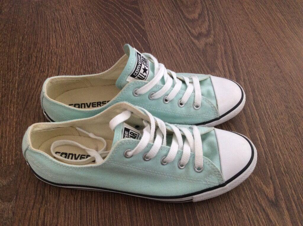 a8b7d921e3af1e Ladies mint green converse trainers size uk 5