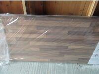 Wood block effect worktop, teak curtain poles +fittings