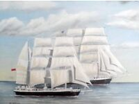 'Lord Nelson' and 'Tenacious' - Original oil painting.