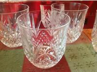 4 x crystal whisky glasses 31cl