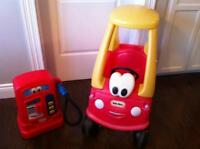 Little tikes Coupe Car and Gas station
