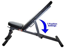 Exercise Bench 7 in 1 Weight Training Bench Folding & Adjustable Bench: NEW