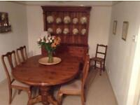 Pine Oval Dining Table and Chairs