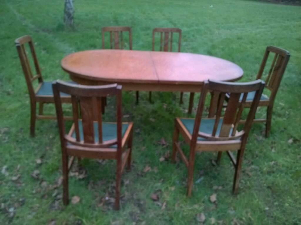Kitchen dining table by McIntosh solid wood and 6 chairs nicely carvedin Portadown, County ArmaghGumtree - Kitchen dining table by McIntosh seats up to 6 people, doesnt extend, solid wood and 6 chairs in nice condition. The 6 chairs are nicely carved, I have included a close up. Delivery could be arranged if you were local. Tables measures approx 170cms...