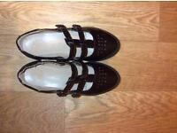 New look brown/ plum women's sandals ( size 4)