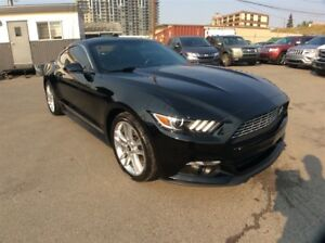 2016 Ford Mustang / ECOBOOST / 6 SPEED / NAV / B/U CAM / LEATHER