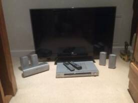 "Samsung 40"" LE40C580J1K and Sony Surround Sound"