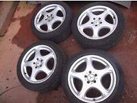 """Mercedes S CLASS,CL 2204010302 18"""" Alloy Wheels & tyres Set 245/45 8J ET44"""