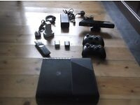 XBOX 360 MODEL E WITH KINECT / REMOTE CONTROL / 2 CONTROLLERS + CHARGER & 3 GAMES