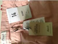Pink Skinny Jeans - Mid rise - NEW - size 14