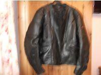 Men's Riossi Black Leather Motorcycle Jacket