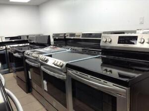 BRAND NEW STAINLESS RANGES- UNBOXED- OPEN MON-SAT 10AM-6PM - 16665 111 AVE - 1 YEAR WARRANTY