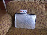 Brand new with tab, JAM laptop/notebook sleeve, metallic silver