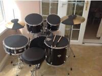 7 piece tornado mapex drum kit