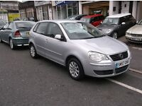 57/REG VW POLO 1.4TDI 5DR HATCH £30 ROAD TAX PRICED £1995