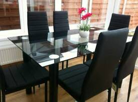 Dining table and chairs new