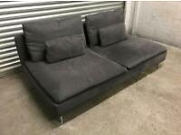FREE DELIVERY IKEA SODERHAMN CHARCOAL GREY 2 SEATER SOFA GREAT CONDITION