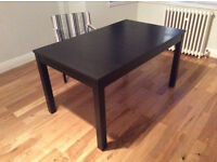 Ikea BJURSTA Brown-Black Extendable Table Only For Sale Very Good Condition Bargain