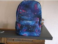 Blue patterned haversack/backpack new