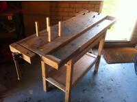 Oak wood working table