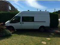 Ford transit day van ready for full camper conversion