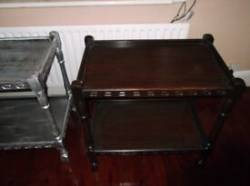 TOP AND BOTTOM TABLE/STORAGE X 2 SEE PICS