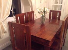 Rosewood Table And 6 Chairs