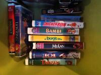 VHS collection of Disney movies