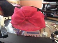Pink dress hat