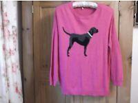 Ladies Joules Black Labrador Dog Jumper