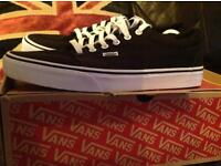 "Black/white Vans size uk10 ""Kress"""