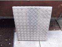 Chequered ali plate 620mm x 680 mm x 5mm thick £15 plus other bits listed below or £20 the lot