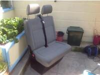 Volkswagen T5 double passenger seat with base