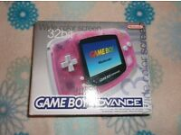 Boxed Nintendo Gameboy Advance, in great condition.