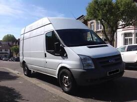 FORD TRANSIT LWB HIGH ROOF 2008 LONG MOT. SEE IT IN CROYDON OR FULHAM £3000 NO VAT!!!