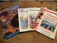 Painting with watercolour books