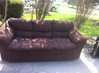 Fergus- brown microfibre couch.