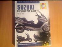 Suzuki Bergman 250 & 400 Haynes Manual Still in raper NOT ( Honda Kawasaki Ktm Yamaha Aprila )