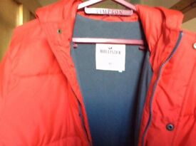 Men's XL Red Holister winter jacket