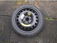 VAUXHALL/SAAB 16 INCH AS NEW/NEW SPACE SAVER TYRE C/W NEW/AS NEW T115/70/R16 FIRESTONE TYRE